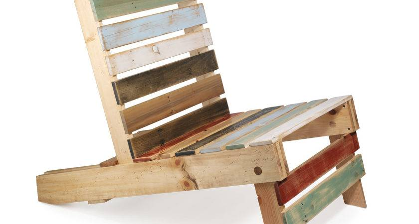 Magnetic Pallet Chair Adirondack Outdoor Deck