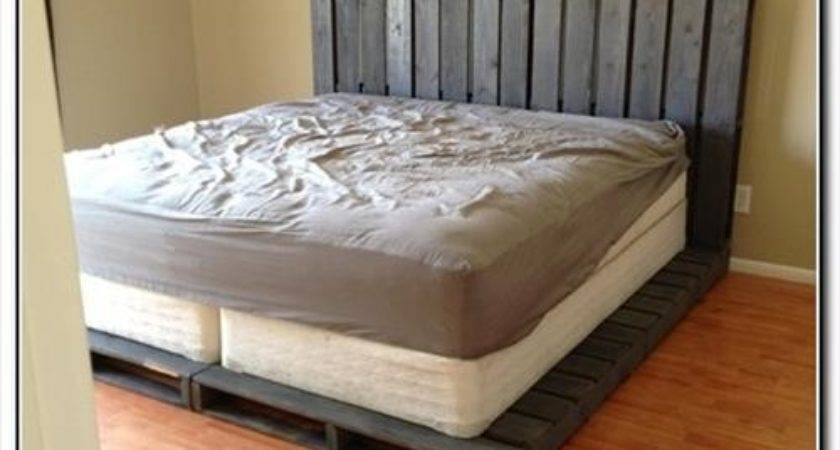 Make Cheap Pallet Bed Frame Pallets Designs