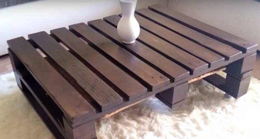 Make Coffee Table Out Pallet Diy Projects Craft