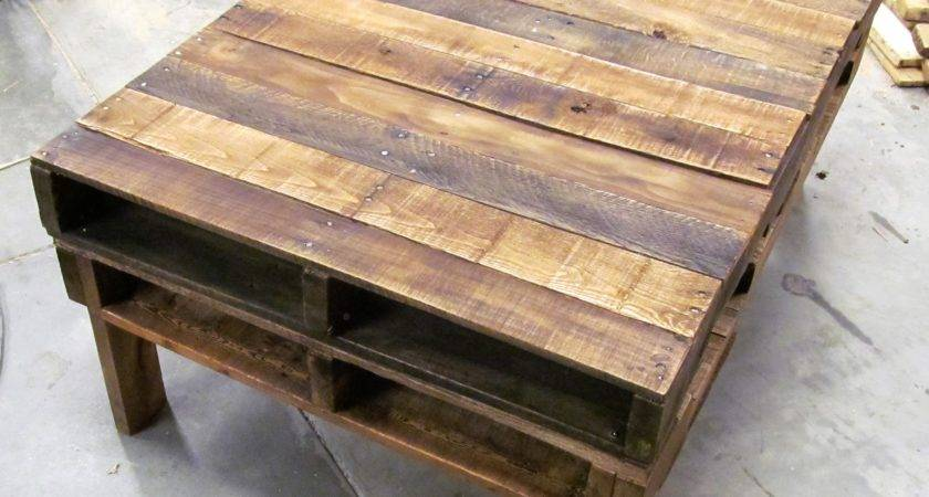 Make Coffee Table Out Pallets Here