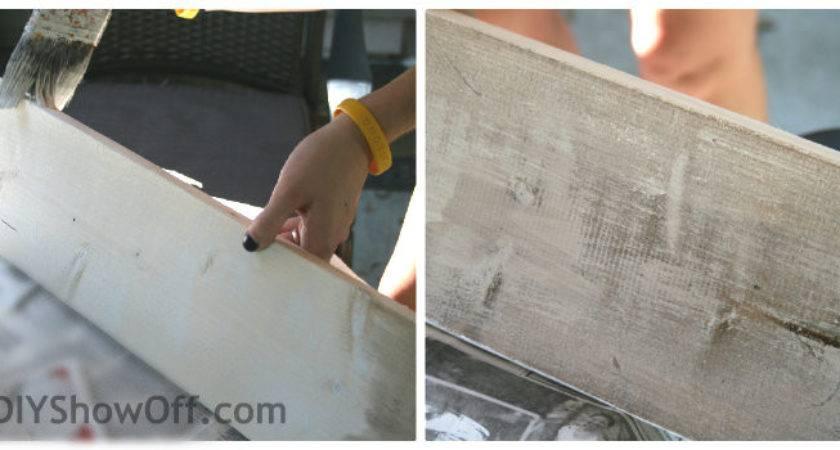 Make Diy Distressed Painted Wood Plank Signdiy