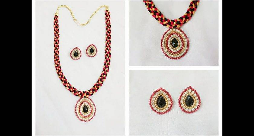 Make Fancy Silk Thread Necklace Home Youtube