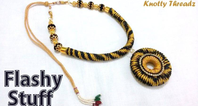 Make Fancy Thread Necklace Home Tutorial