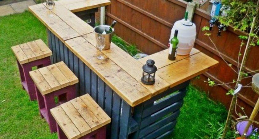 Make Garden Bar Out Pallets