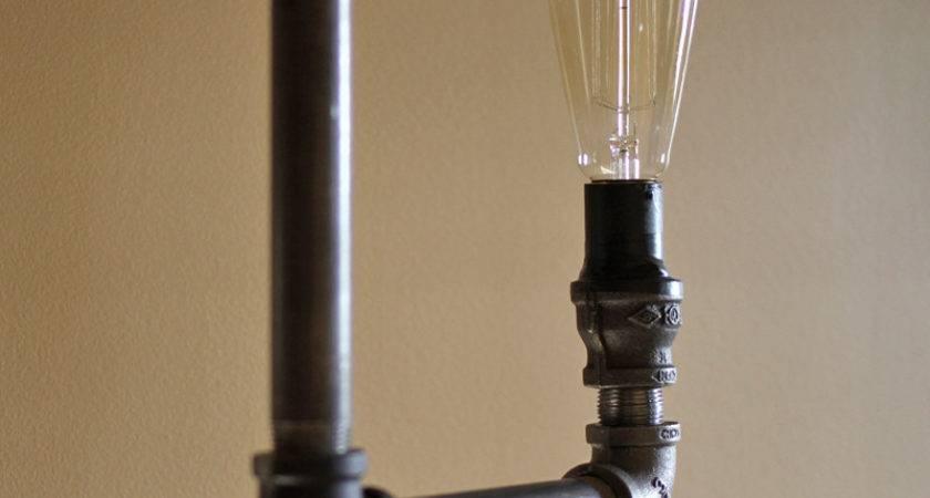 Make Industrial Pipe Floor Lamp Orange