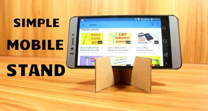 Make Mobile Stand Using Cardboard