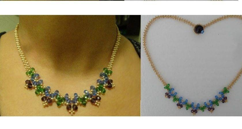 Make Necklace Just Beads Thread Youtube