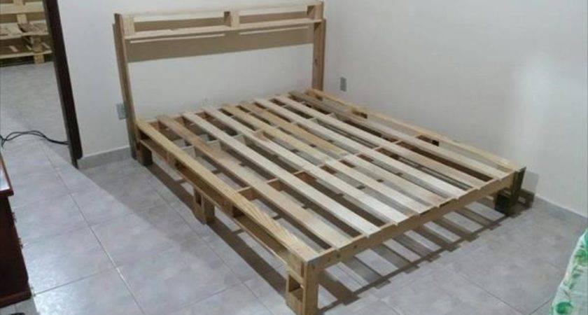 Make Pallet Bed Frame Ideas Pallets
