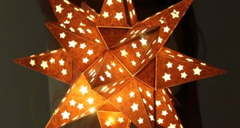 Make Paper Star Lantern Looks Like Metal