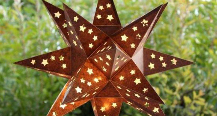 Make Rusty Faux Metal Star Lantern
