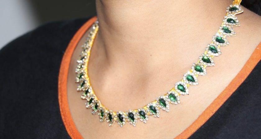 Make Silk Thread Beautiful Designer Necklace Choker