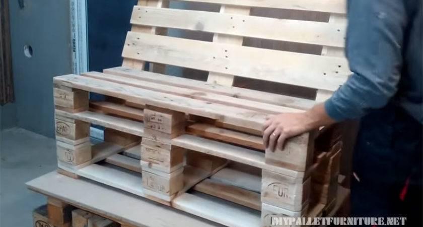 Make Sofa Pallets Diy Pallet Furniture