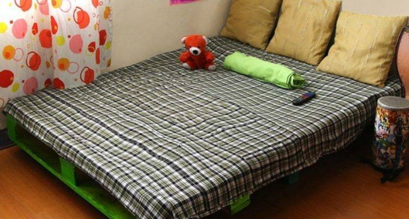 Make Wood Pallet Bed Diy Ideas Tips