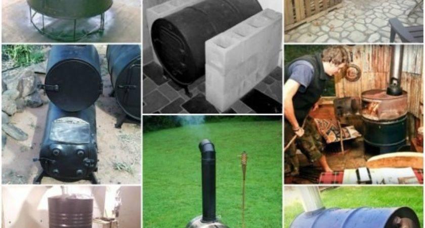 Make Wood Stove Water Heater Jaquzzi House
