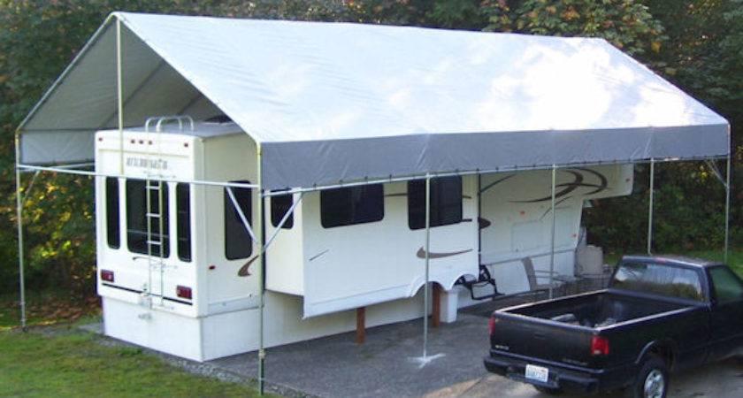 Make Your Own Portable Carport Shelter Motorhome
