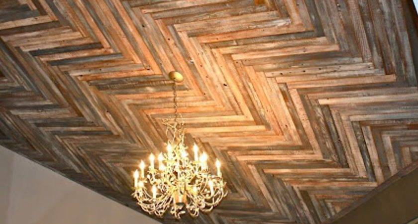 Makemeprettyagain Reclaimed Wood Herringbone Pattern