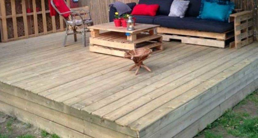 Making Decking Out Pallets Diy Home Interior Exterior