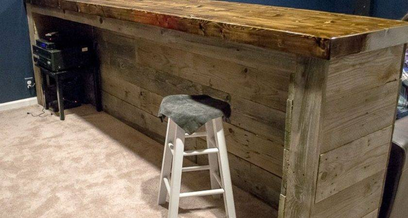 Man Cave Wood Pallet Bar Diy Plans Infarrantly