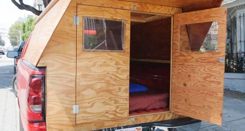 Man Designs Builds Wooden Micro Truck Camper