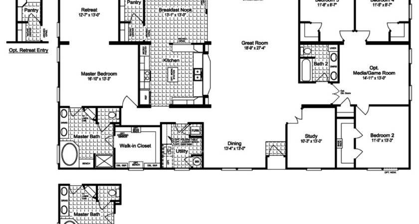 Manufactured Home Floor Plans Houses Flooring