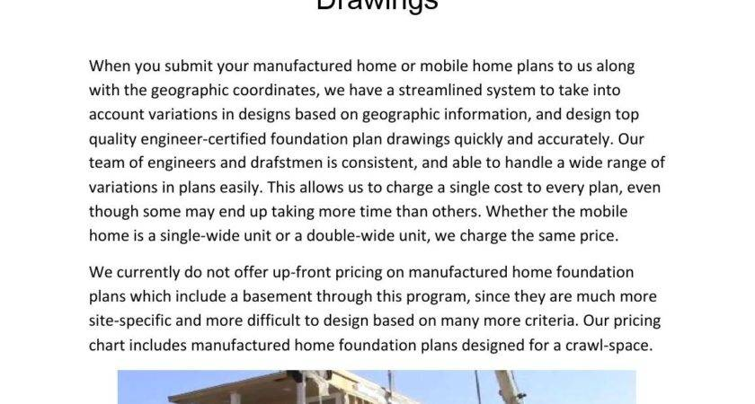 Manufactured Home Foundation Plan Drawings