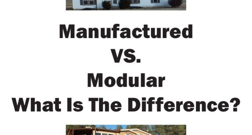 Manufactured Modular Difference