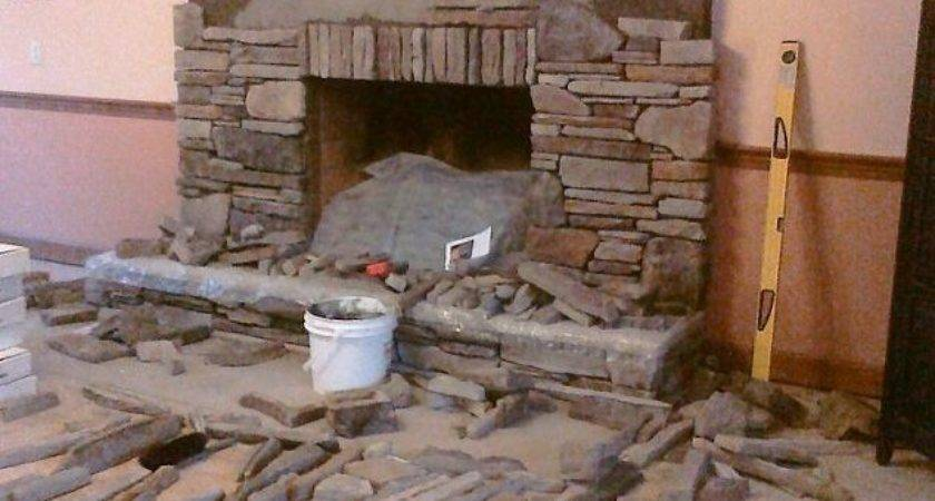 Manufactured Stone Veneer Installed Dry Stack