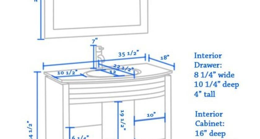 Marvelous Average Height Bathroom Vanity Complete