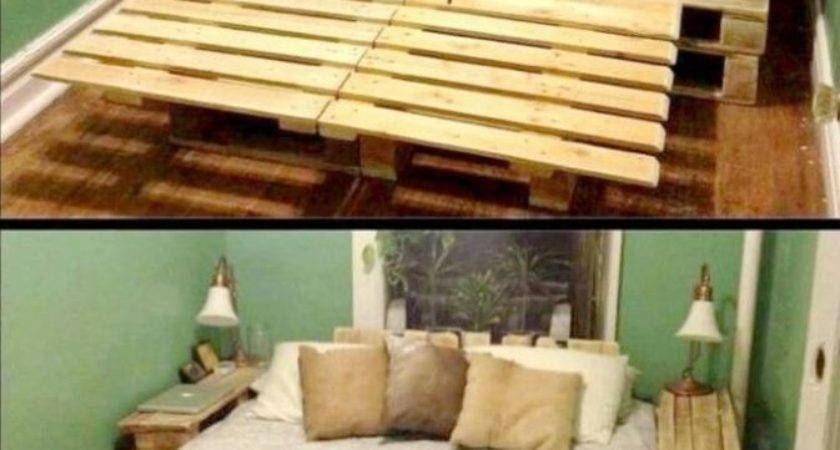 Marvelous Bed Frame Made Out Pallets Best Pallet