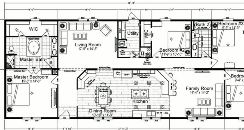 Marvelous Mobile Home Plans Double Wide