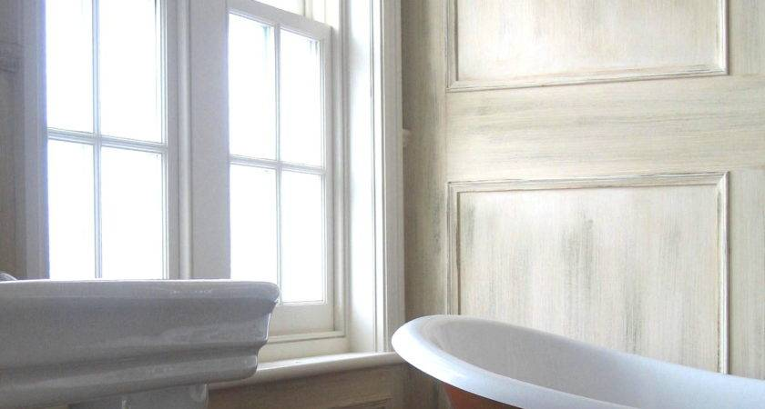Marvelous Painted Wall Paneling Bathroom Wood
