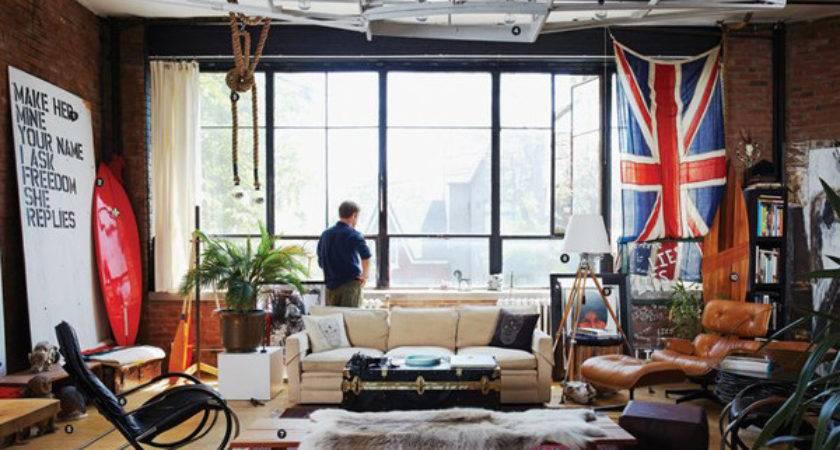 Masculine Bachelor Pad Living Rooms Home Design