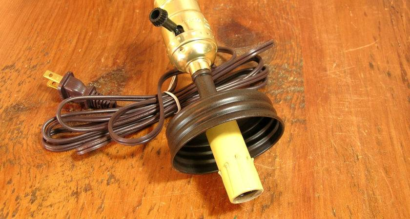 Mason Jar Lamp Adapter Kit Electrical Parts Double Bulb