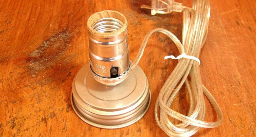 Mason Jar Lamp Adapter Kit Electrical Parts