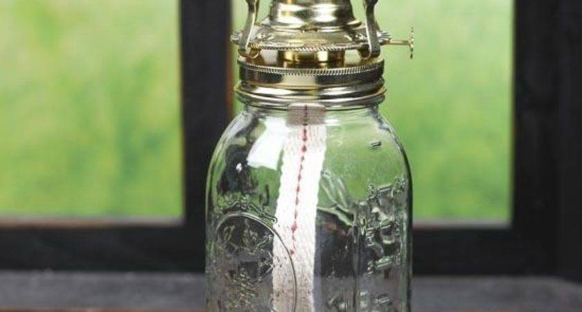 Mason Jar Oil Lamp Kit Making Basic Craft