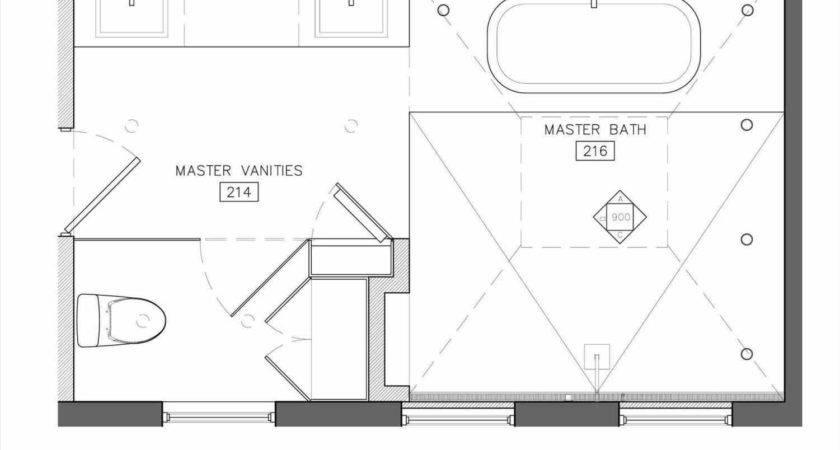 Master Bathroom Plans Walk Shower Tub Siudy