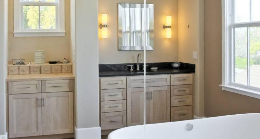 Master Bathrooms Wood Floors