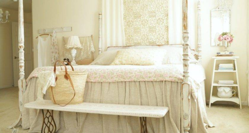 Master Bedroom Makeover Cheap White Lace Cottage