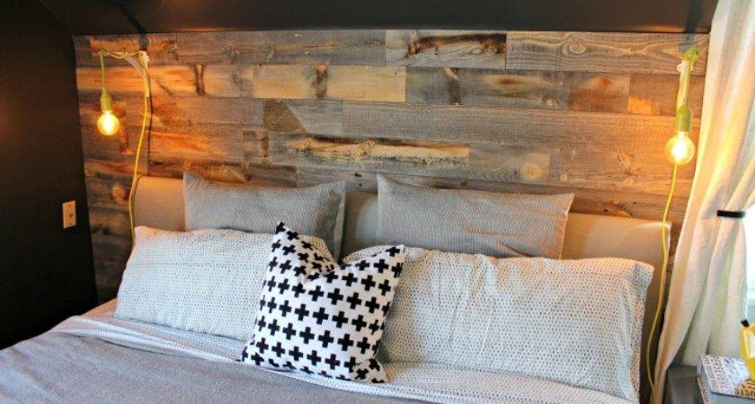 Master Bedroom Reclaimed Wood Accent Wall