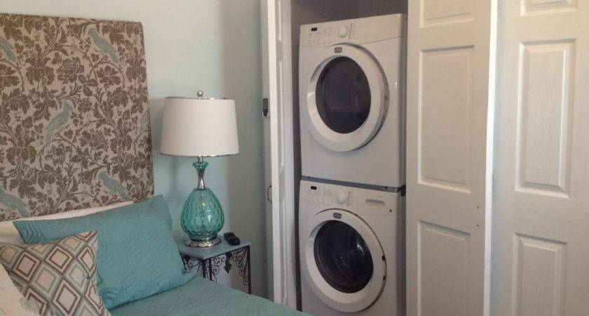 Master Bedroom Walk Closet Washer Dryer Home