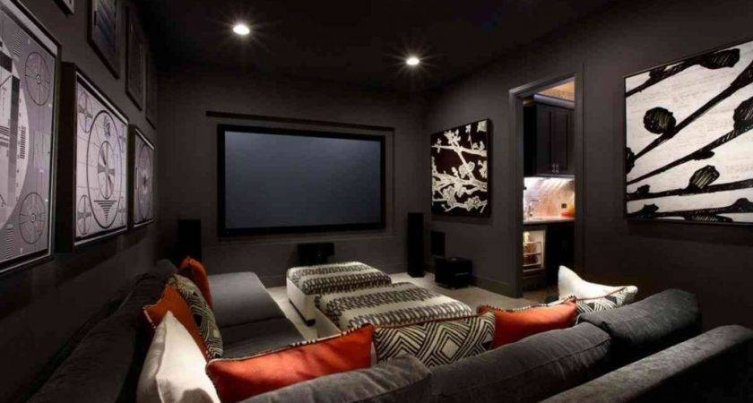 Media Room Furniture Ideas Small Home Theater Unique
