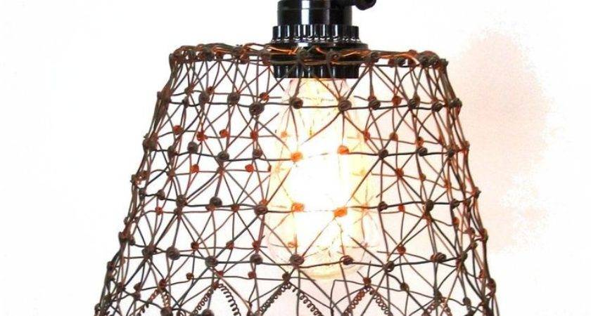 Mesh Chicken Wire Like Pendant Light Fixture Lovely