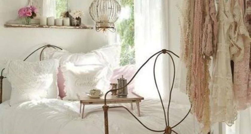 Metal Bed Frame Cheap Shabby Chic Bedroom Decor