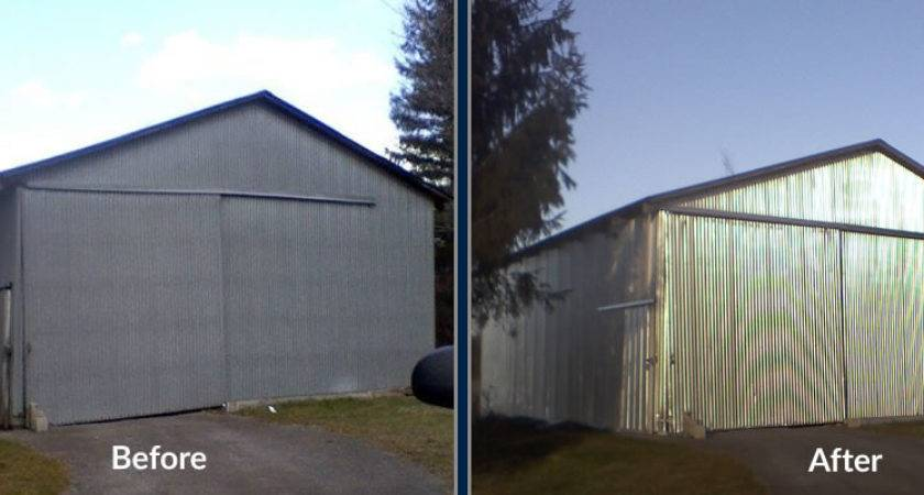 Metal Building Painting Central Indiana White
