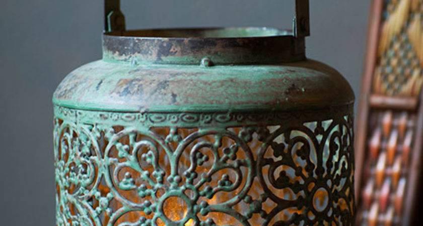 Metal Hong Kong Lantern Vagabond Vintage Furnishings