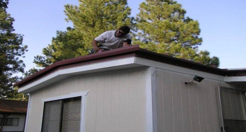 Metal Mobile Home Roof Vinyl Siding Green