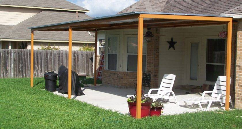 Metal Roof Covered Porch