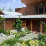 Metal Roof Overhang Exterior Contemporary Brick