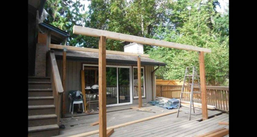 Metal Shed Roof Over Deck