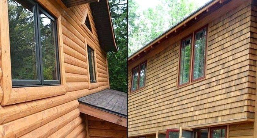 Metal Siding Looks Like Logs Wood